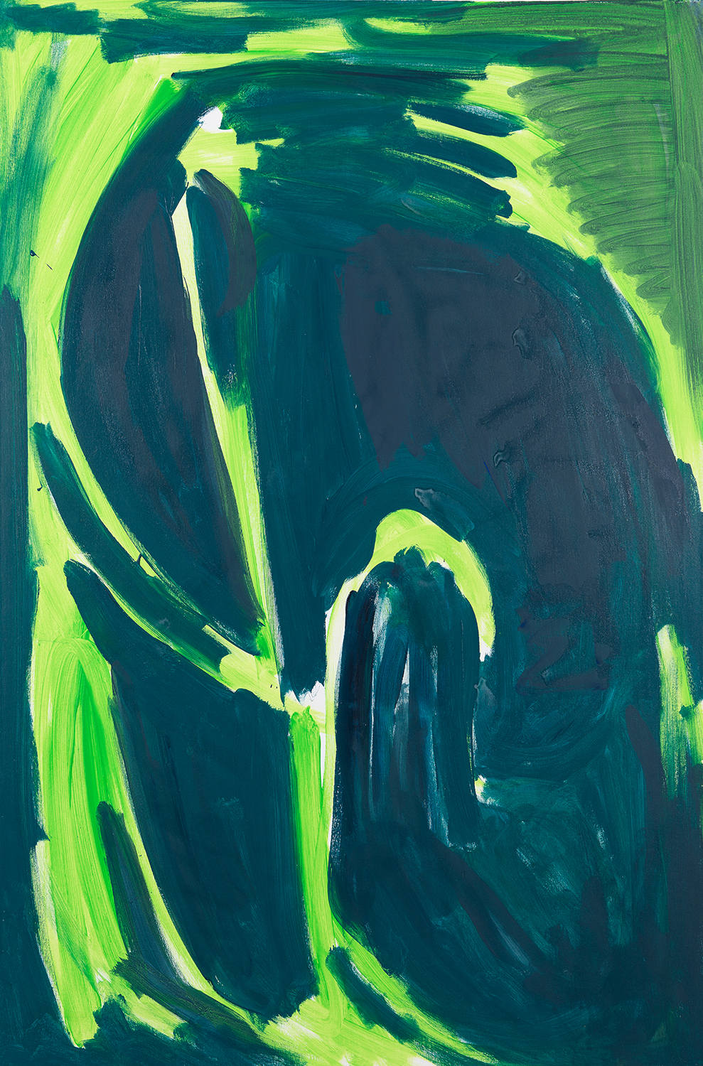 untitled, dark green, light green, 2001