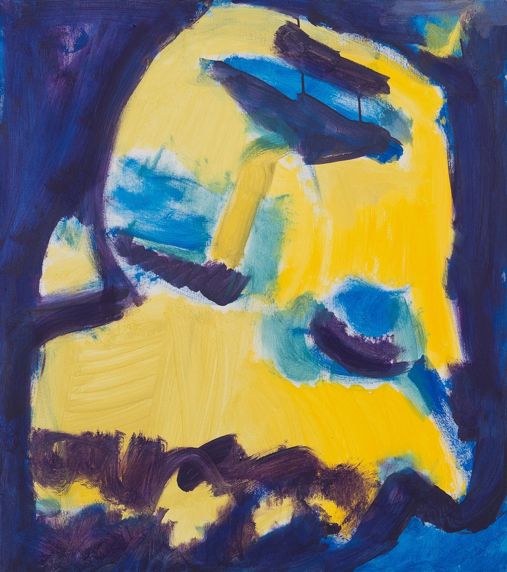 Mask No.4, blue, violett, yellow, 2009