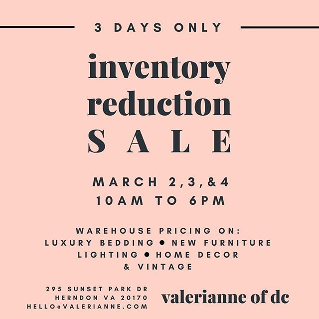 Seriously, though, this is such a big sale. We hope to see you there!!! #valerianneofdc #thesweetwoodcollection #sale