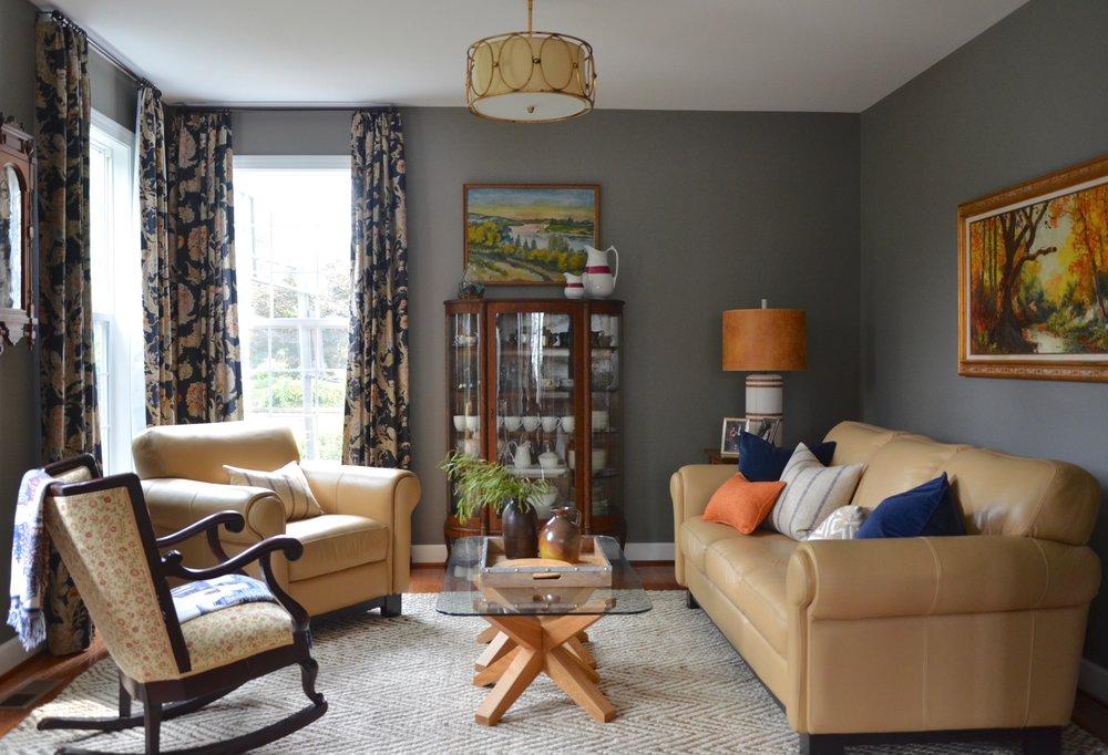 Living Room Re-Design in Herndon Virginia.