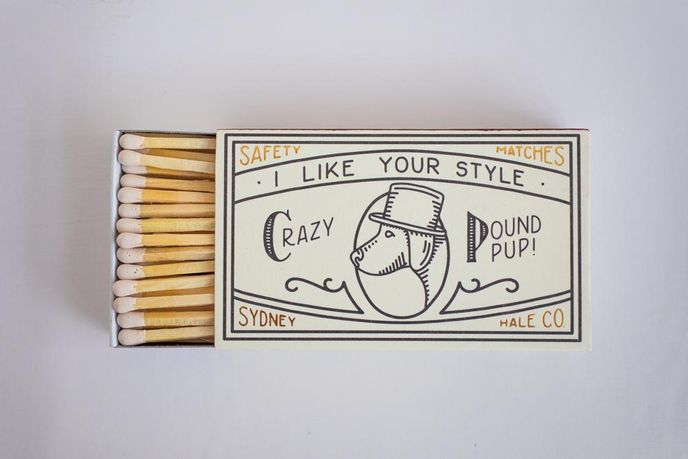 safety matches, $5.00