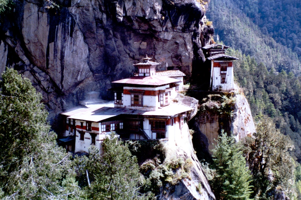 Taktsang monastery, built on a cliff face above Paro, Bhutan
