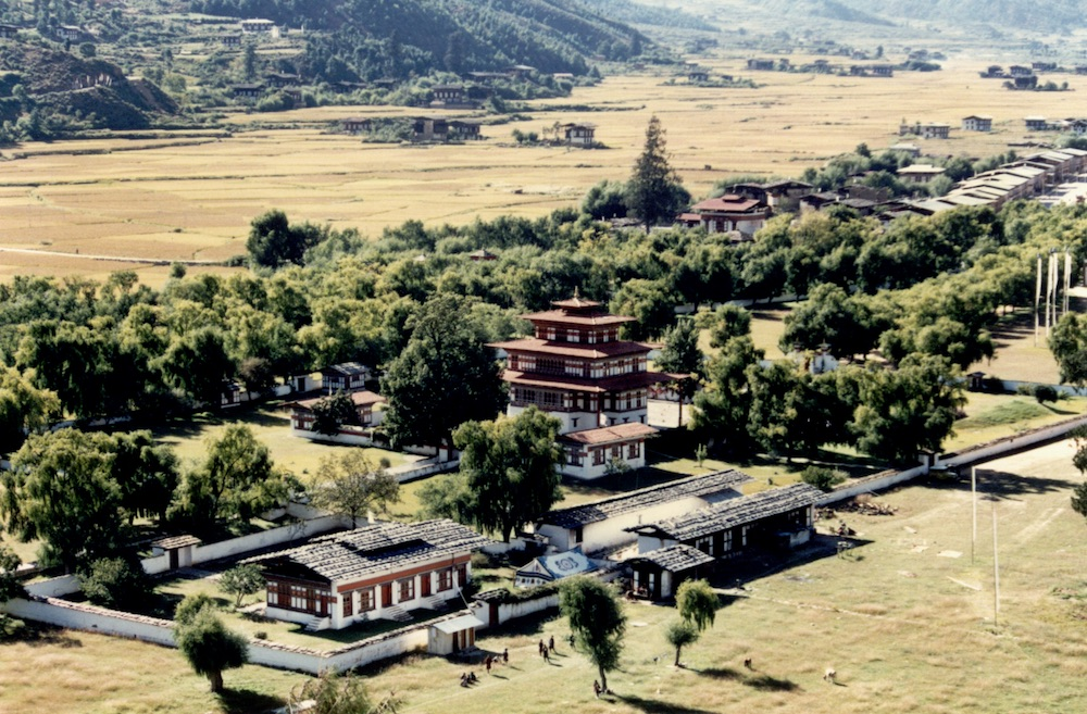 Thimphu valley.  The capital of Bhutan and centre of government.