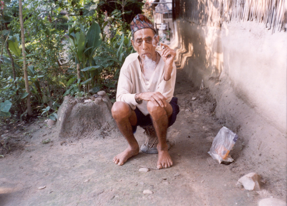 'He is an old man who thinks life is like smoke that a puff of wind can disperse. He complains that he will die without seeing his country again. Myself and others tell him that is not the way to think.'    Yethi Raj / BRCF / PhotoVoice