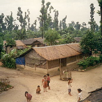 The view from the roof of my hut.  When we first arrived the camps were very bare but now there are banana trees and much greenery. Deokumar / PhotoVoice / LWF