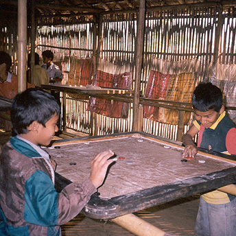 Karim is a popular game in the camps    Purna   / PhotoVoice / LWF