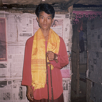 A buddhist monk in the camps    Prem / PhotoVoice / LWF