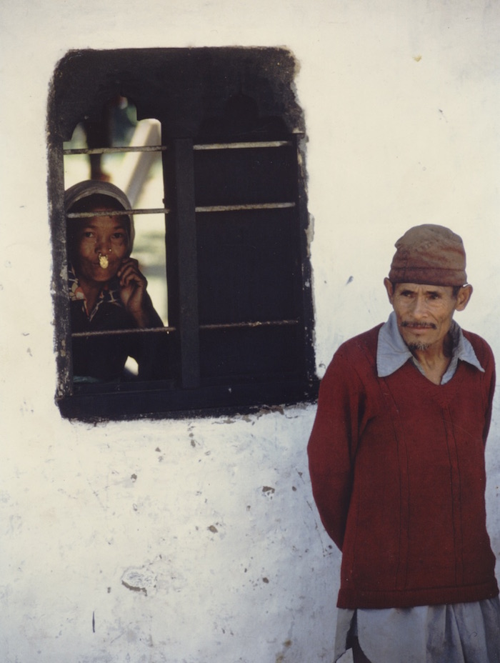 An older couple from southern Bhutan in their traditional dress in the 1980s.  Catriona Heale