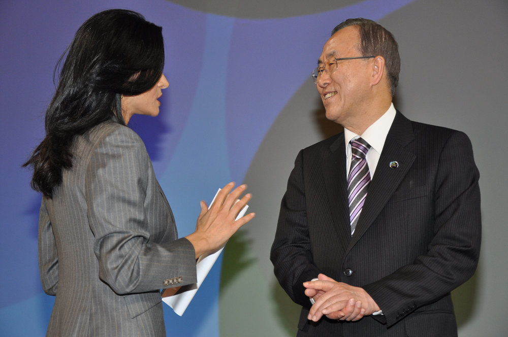 Ban ki moon and Ghida fakhry
