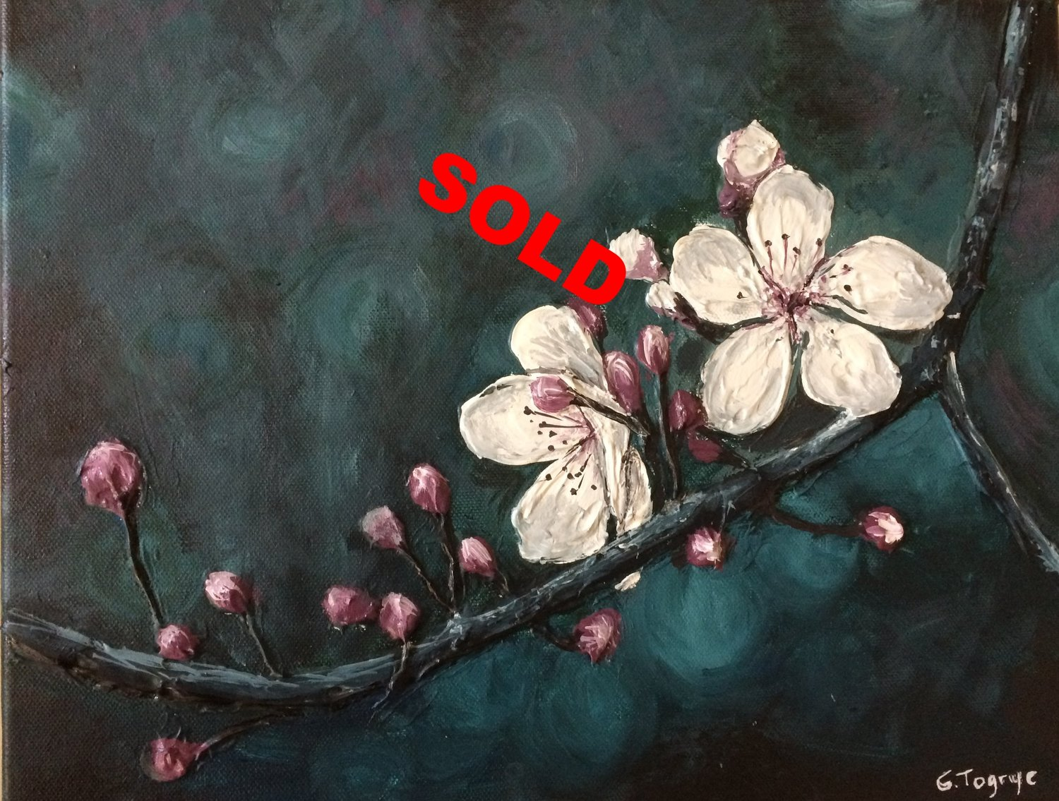 Sculptural Painting Of White Flowers Creative Visions Artists