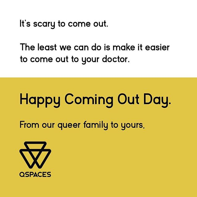 It's exhausting to come out over and over and over. So we're working hard to make sure coming out to your doctor is easy. #lgbt #lgbtq #gay #comingout #comingoutday #lgbtqhealth #lgbthealth #gay #lesbian #bisexual #trans #queer