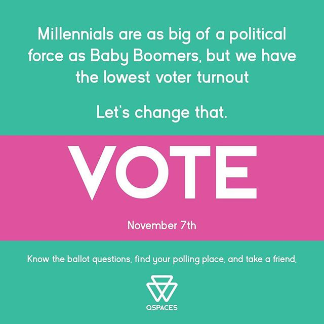 Get ready, folks. Local elections are really important, and ripple up the chain of national politics. Voting tomorrow is a great way get started in local policies and planning. #vote #lgbtvote
