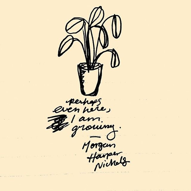 Happy #WisdomWednesday, everyone! We love this quote and drawing by Morgan Harper Nichols. No matter how much you are struggling, it truly is an accomplishment to wake up every morning and keep on going. We hope this can be a little inspiration to keep on fighting, you're worth it!💛🌷 #TheYellowTulipProject