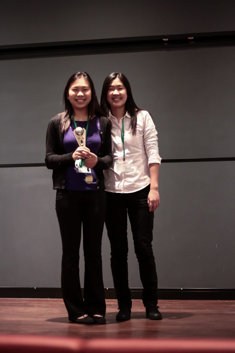 "3rd Place Overall/1st Place Renewable Roadblocks     KELLY YU & GRACE WU   John P. Stevens High School    ""The Energizers"" did a great job exploring the potential of ocean energy from technological, social, and economic perspectives,  Check out their winning presentation here!"
