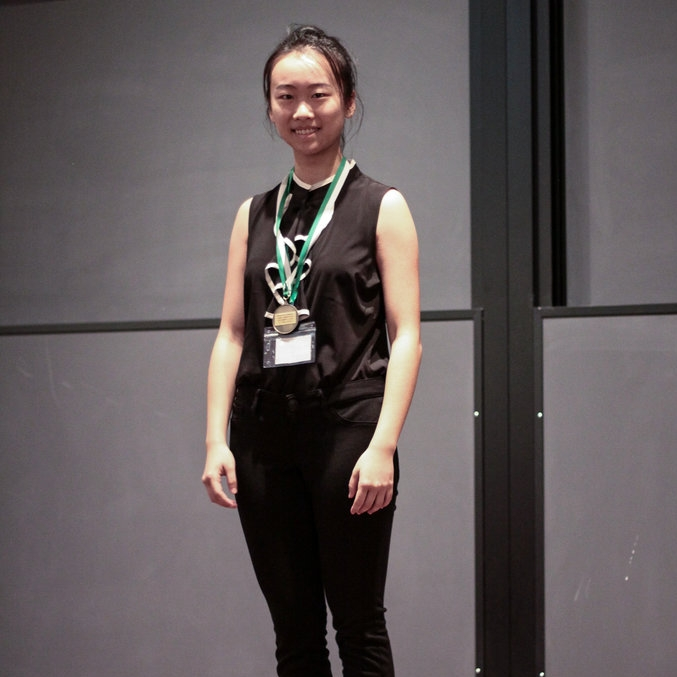 1st Place Overall / 1st Place Free Choice    YIHAN (WENDY) WU    High Technology High School    Yihan Wu swept the competition with her innovative solution of applying thermoelectric materials to asphalt roadways as a source of renewable energy.    Check out her winning presentation here!