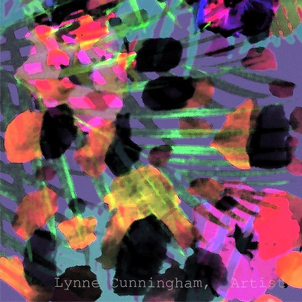 An abstraction of the image I posted before. Going further into design - - having a great time with it. I seem to have a touch of tropical fever lately! . . . .  #digitaldesign #digitalabstract #artanddesign #surfacedesign #artlovers #artanddesign #lynnecunninghamdesign #northerncaliforniaart #abstraction #abstractartist #tropicalfever