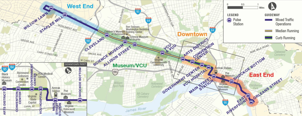 GRTC Pulse Route Map