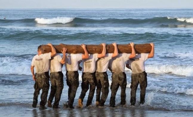 Navey SEALs training.
