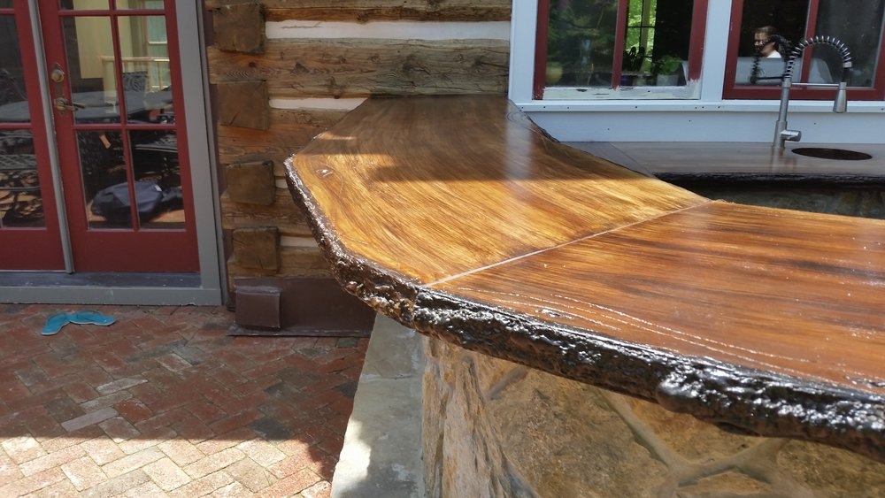 """Wood"" Plank Countertops"