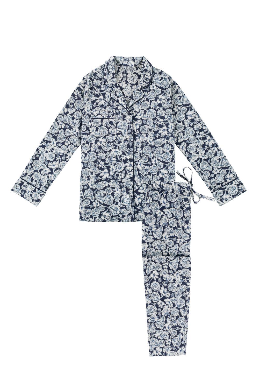 a5ce0290dd25 Women s Liberty Blue Floral Print Pyjama Set — The Reach London