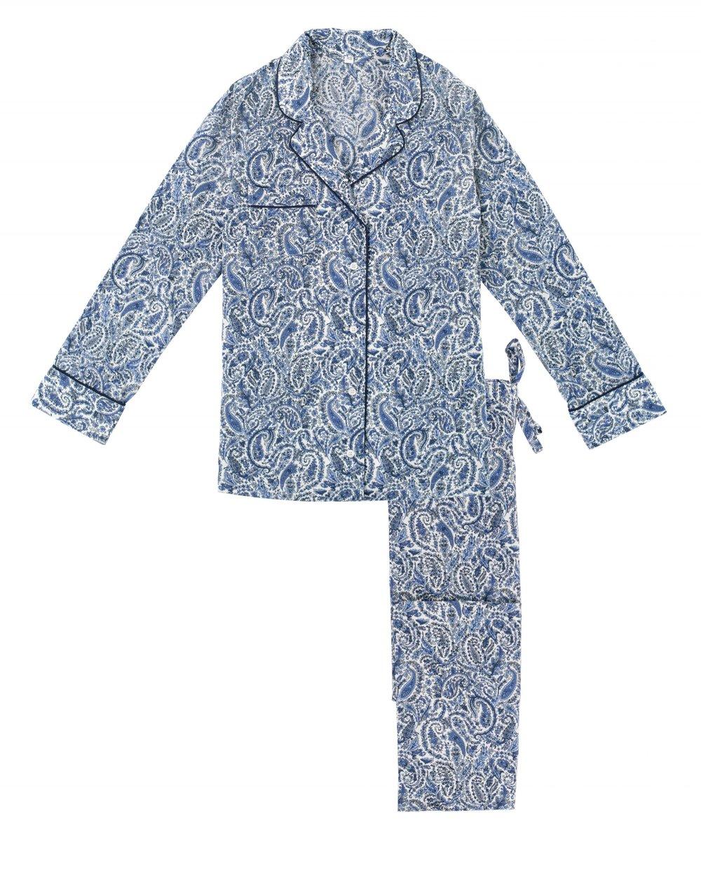 Women's Paisley Print Pyjama Set