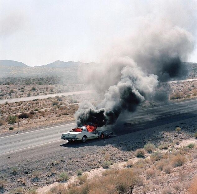 Car (Ca. 2007). A vehicle was purchased. Once title to vehicle was obtained, title to the vehicle and vehicle were set aflame. Whenever this project is exhibited, or whenever a purchaser purchases this project, a new vehicle will be selected by artist, purchased with funds from exhibition venue or purchaser, and the steps shall be repeated: purchase vehicle, obtain title to vehicle, and set title to vehicle and vehicle aflame again. This project is ongoing.
