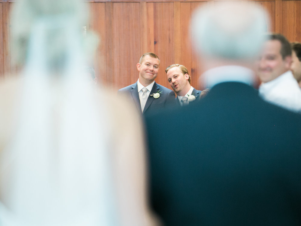 Groom reaction to seeing bride