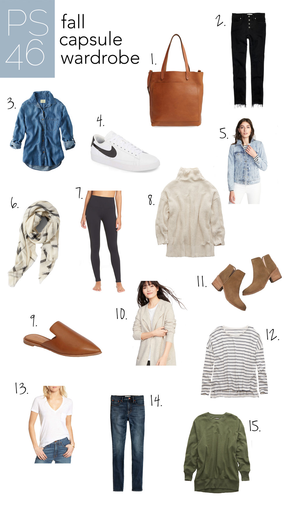 Fall Capsule Wardrobe — 15 Basics You Need in Your Closet