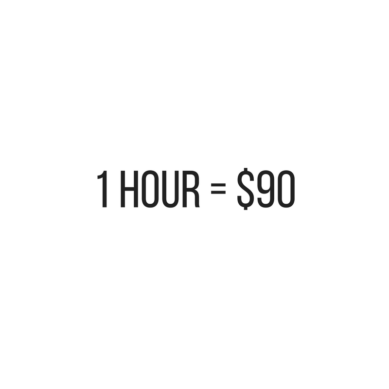 One hour massage price at Urban Kneads