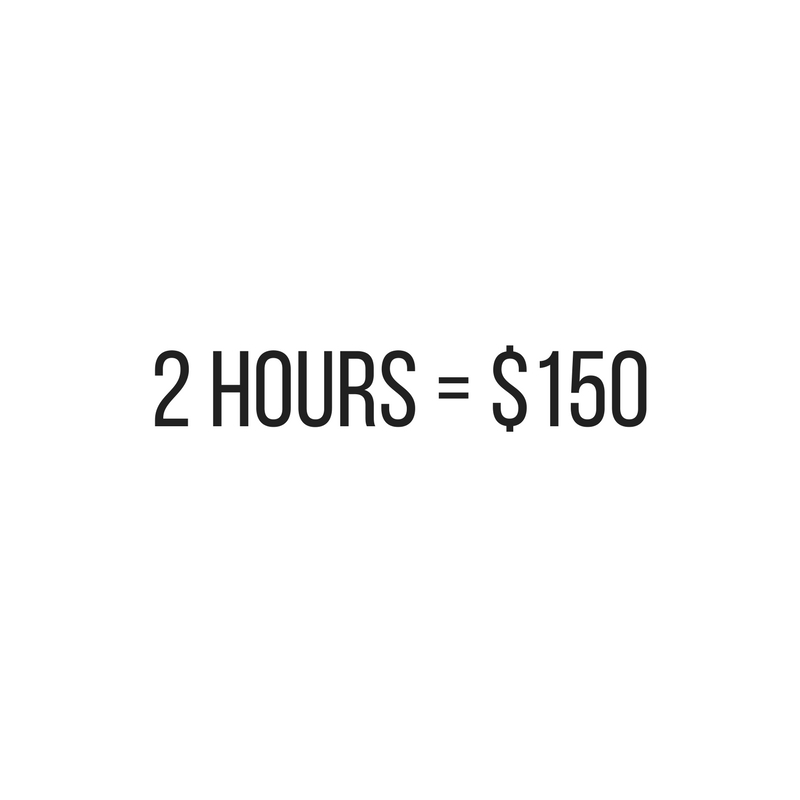 Two Hour Massage Price at Urban Kneads