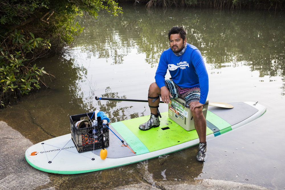 Gerry Realin, 38, credits paddle boarding for assisting him in his healing process after being diagnosed with PTSD as an result of the Pulse Massacre.