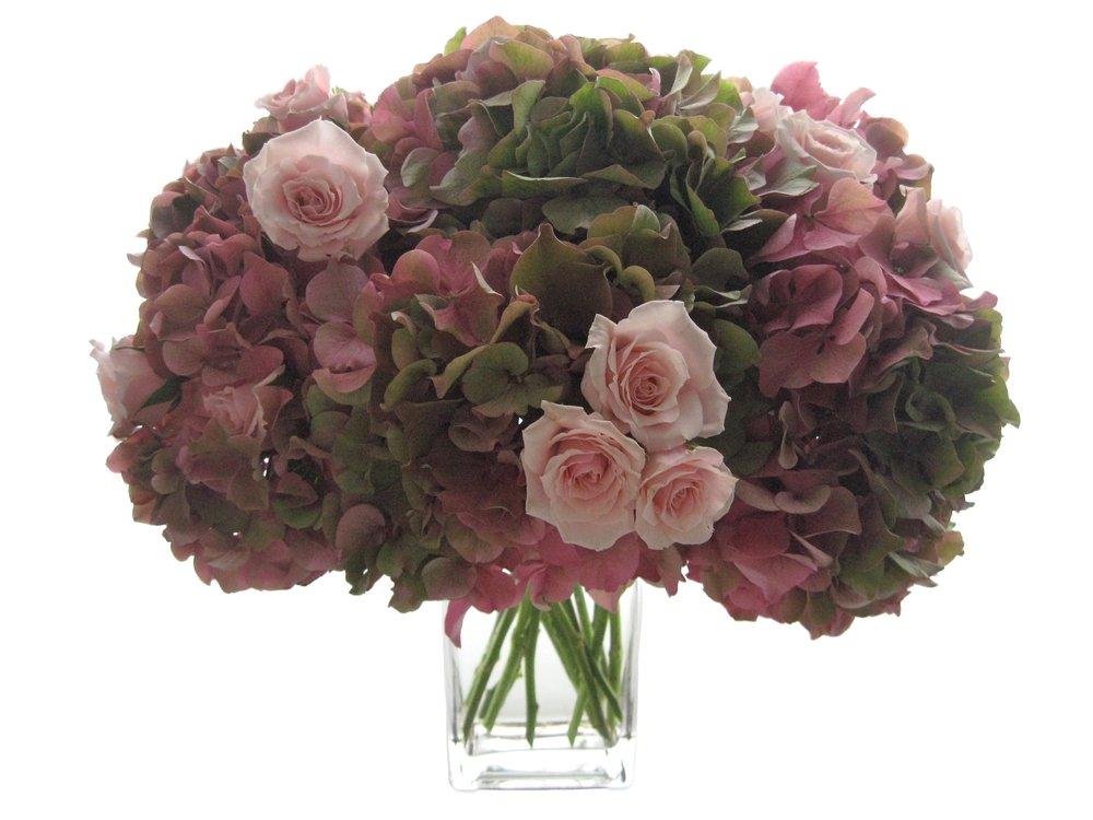 Autumn Hydrangea and Roses starts at $175