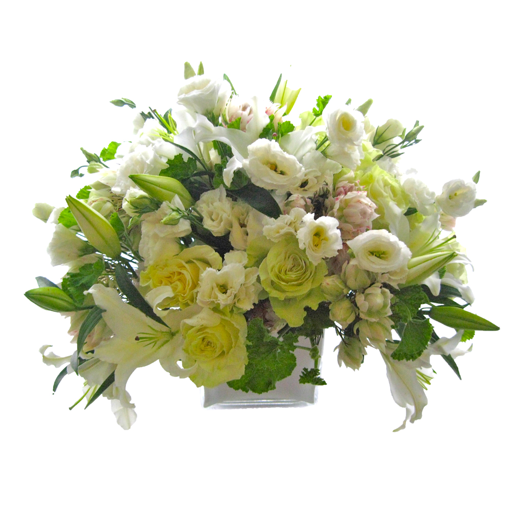 Mixed White & Green Composition from $225