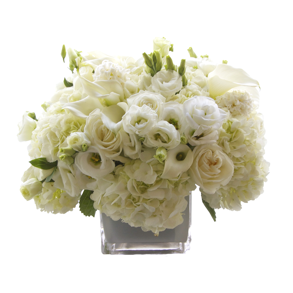 White Calla Hydrangea Composition Starting at $250