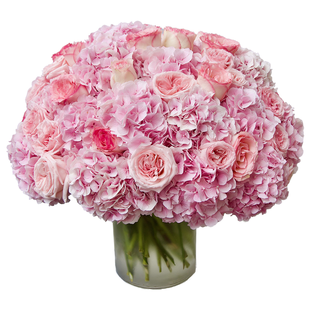 Luxe Hydrangea and Garden Roses, from $500