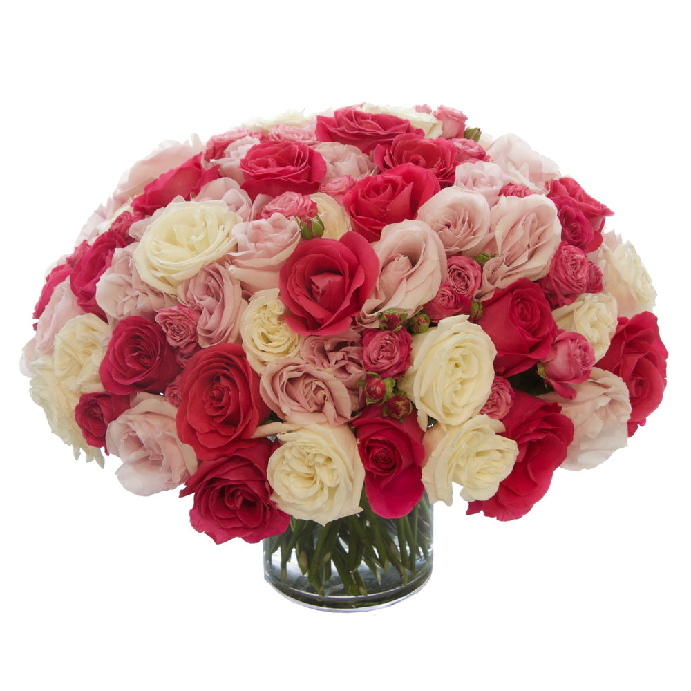 Luxe Pink Rose Mix from $375