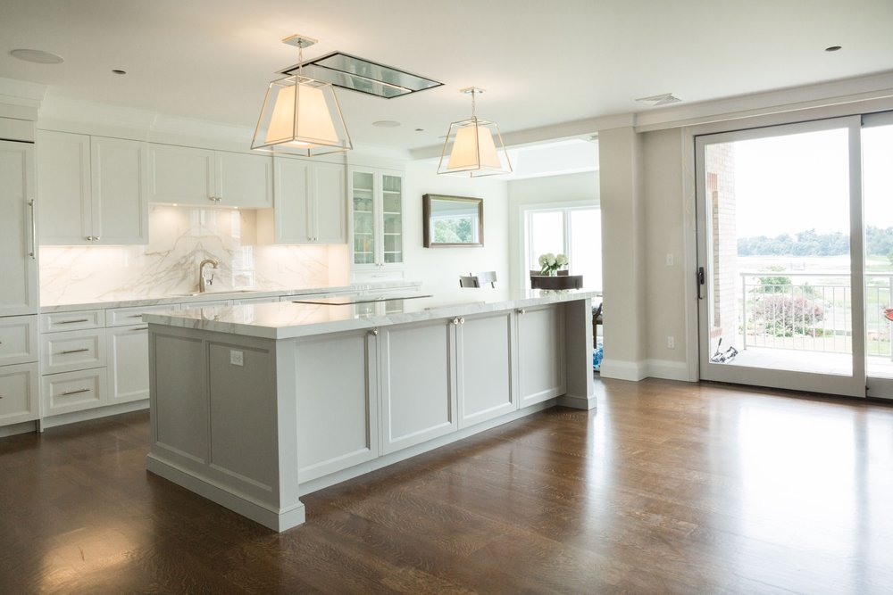 The finished result was a beautiful open kitchen/gathering room