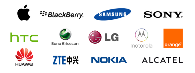 List of brand names we carry for our cell phones and other devices.