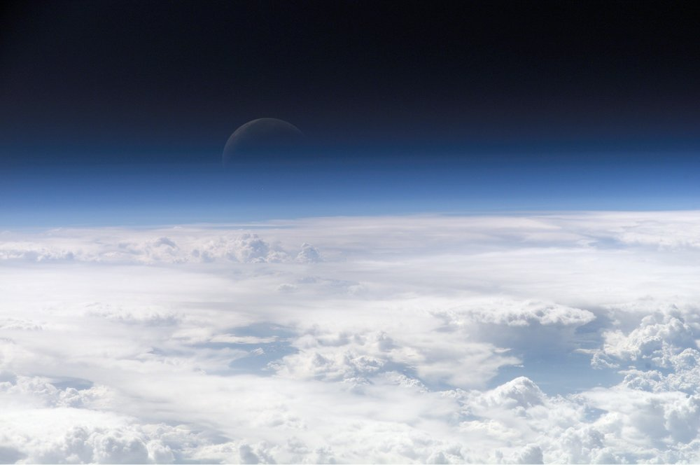 NASA Earth Observatory showing the top of the atmosphere. Pretty sexy right?