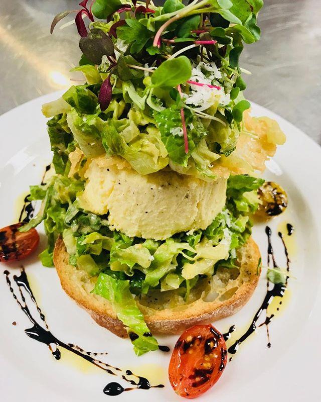 Insalata di Cesare with Sformato al Parmigiano .. Buon appetito!! #downtownnashville #midtownnashville #italianfinedining