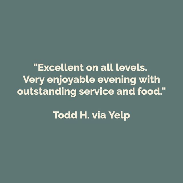 We can't wait to serve you again, Todd!
