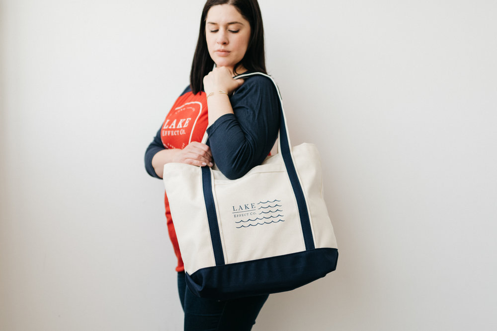 Flag Boat  Tote  + Red & Navy  Raglan