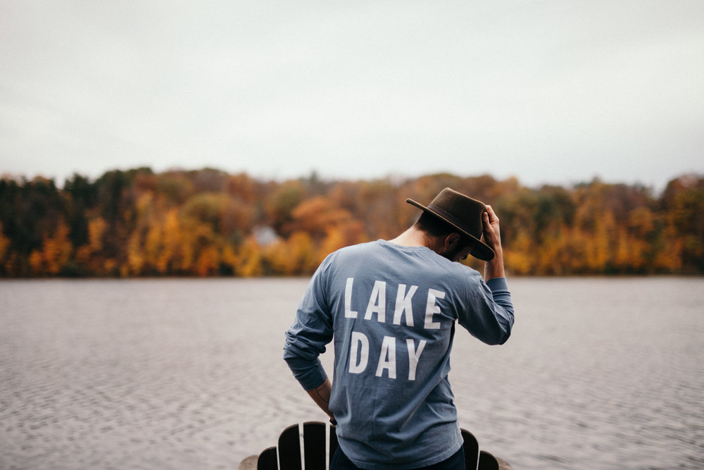 Lake Day shirt. Anchor design. Lake Lifestyle Clothing for your best lakeshore life!