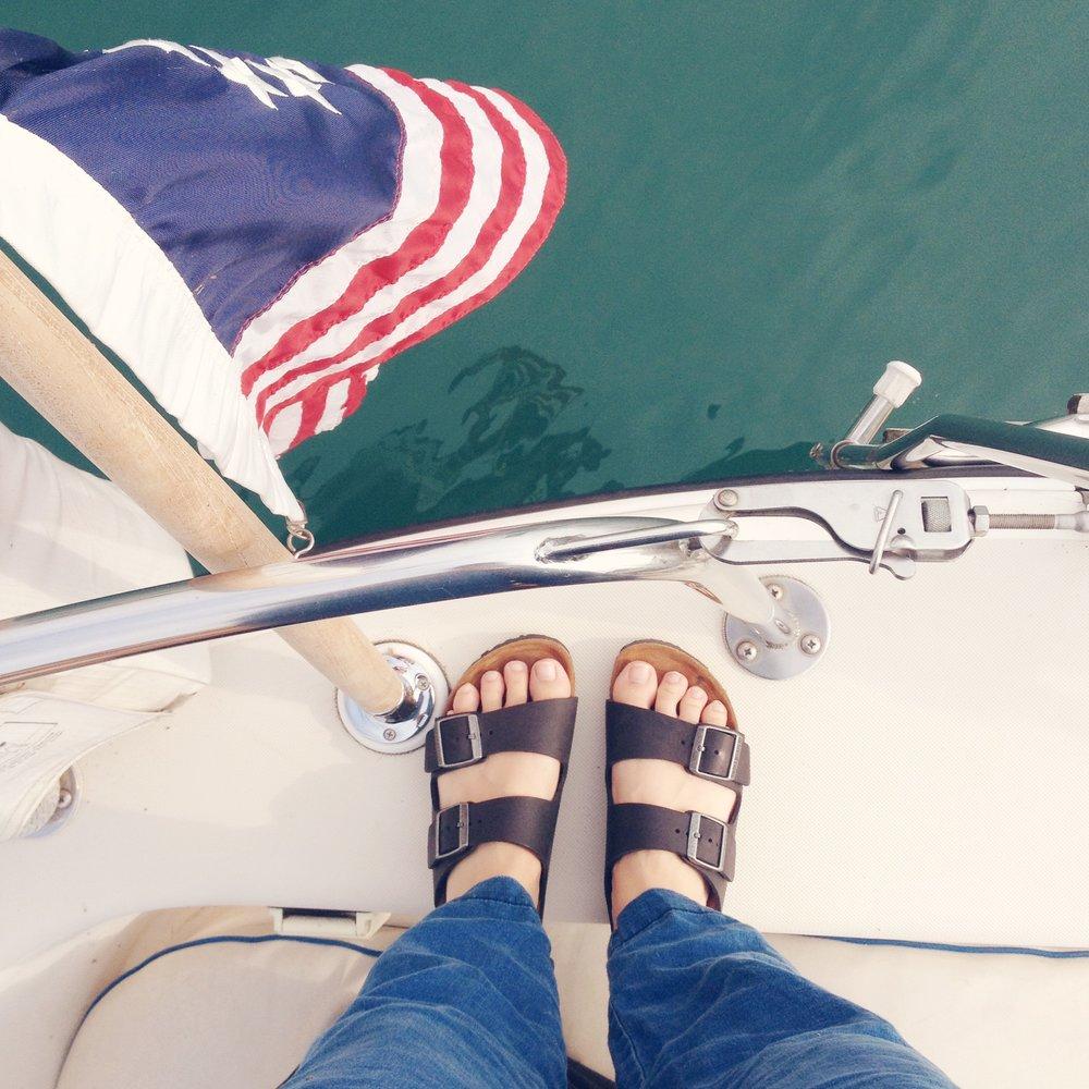 Megan Shoes on Boat.JPG
