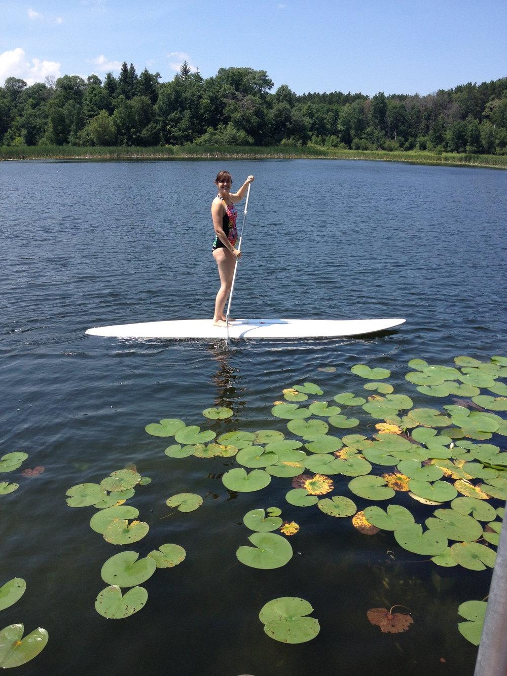 Megan Stand Up Paddle Boarding at Lake.jpg