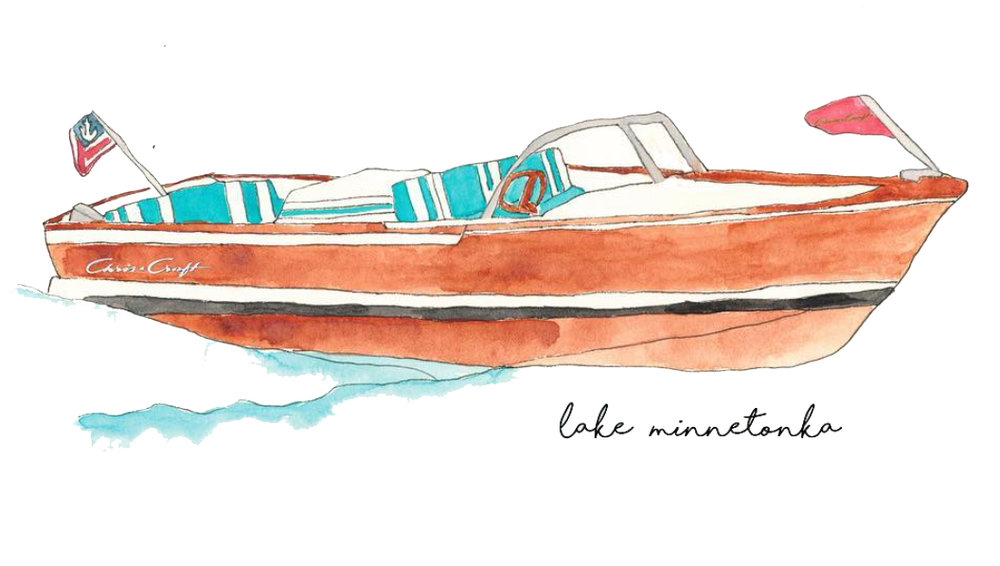 Lake Minnetonka custom watercolor by Chrissy Johnson 213Water