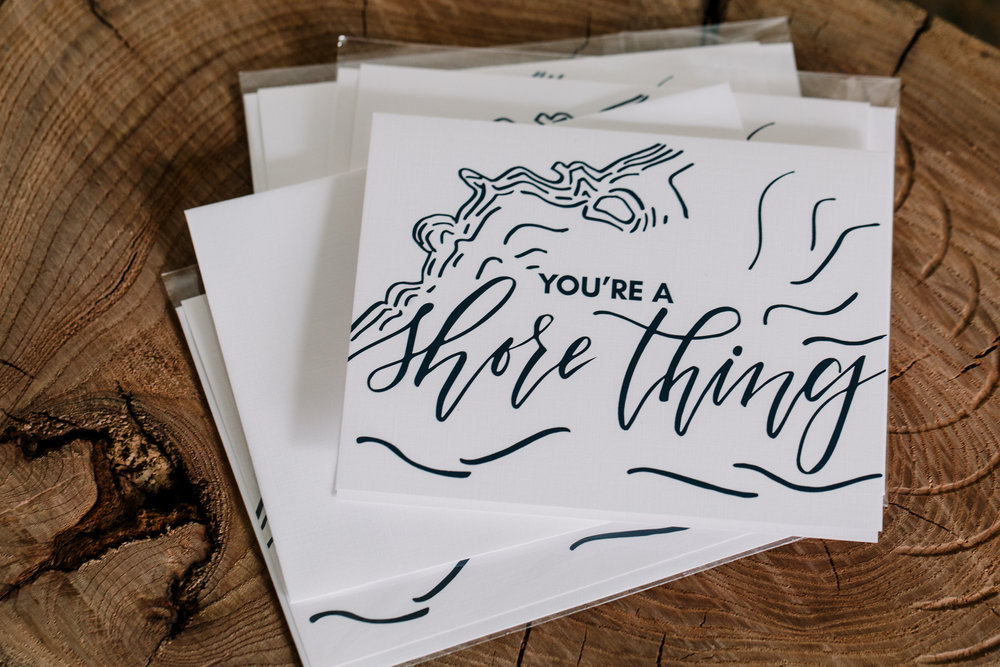 Shore Thing Greeting Card in collaboration Tiny Bits of Happiness and Paper Pleasers