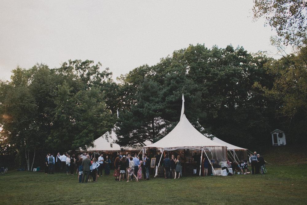wedding reception tent at camp wandawega