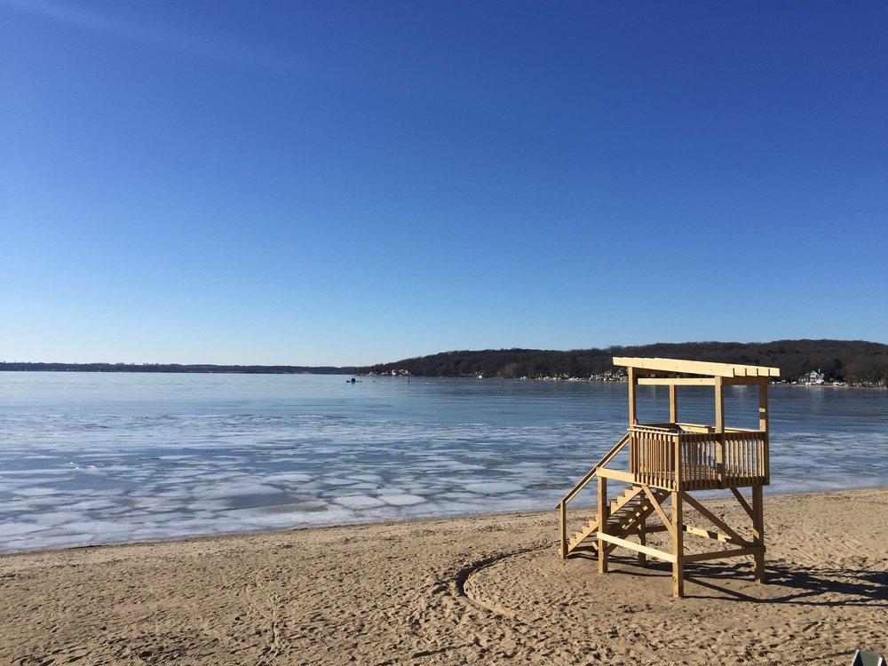 Lake Geneva Wisconsin Beach in Winter