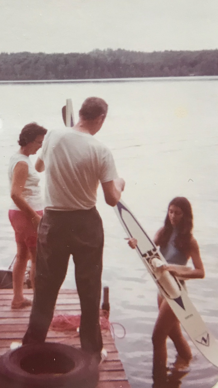 Old water skiing photo in Wisconsin